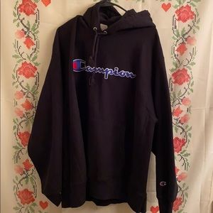 Champion Shirts - Cool Black Champion Hoodie
